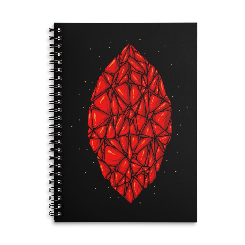 Red diamond Accessories Lined Spiral Notebook by barmalisiRTB