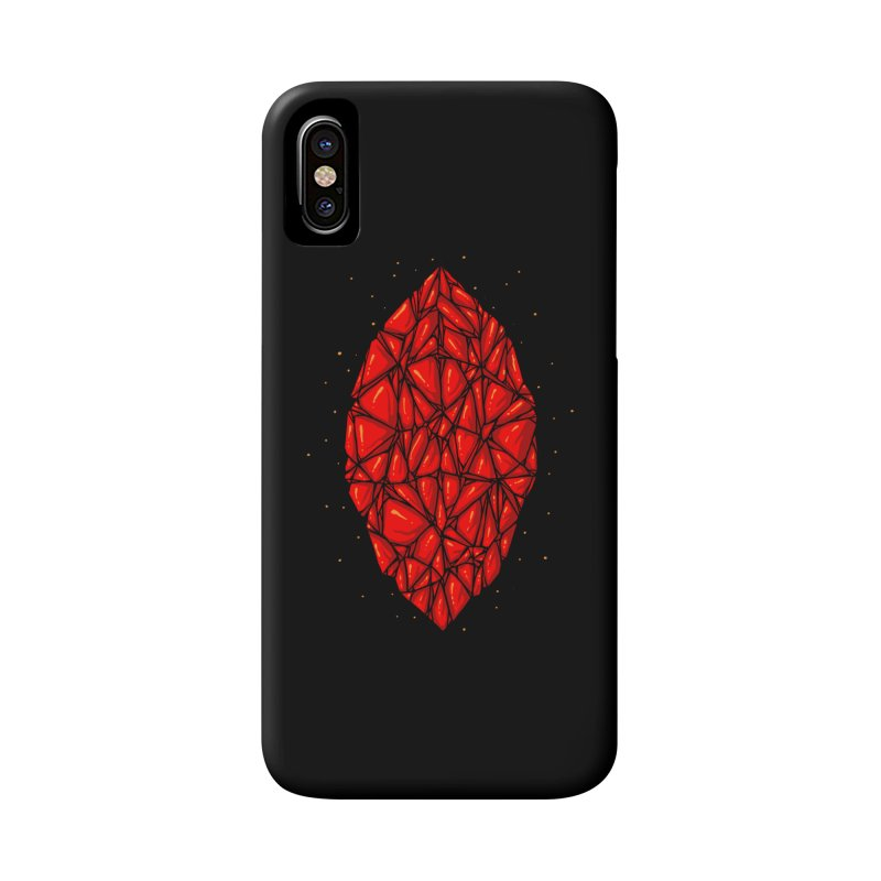 Red diamond Accessories Phone Case by barmalisiRTB