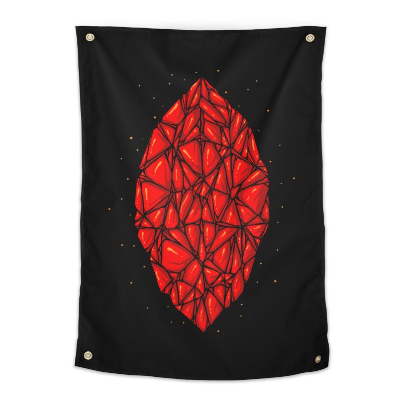Red diamond Home Tapestry by barmalisiRTB