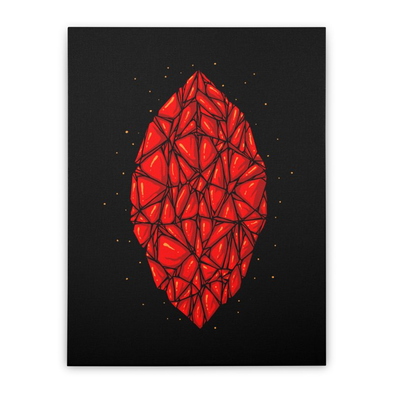 Red diamond Home Stretched Canvas by barmalisiRTB