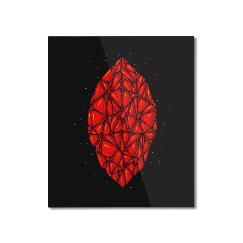 Red diamond Home Mounted Aluminum Print by barmalisiRTB