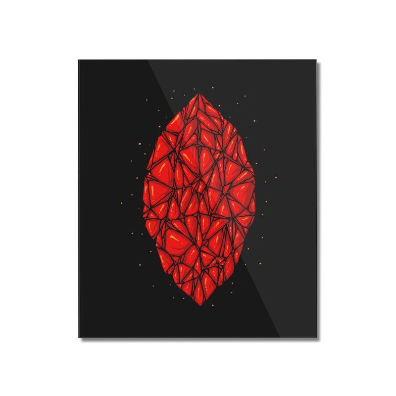 Red diamond Home Mounted Acrylic Print by barmalisiRTB