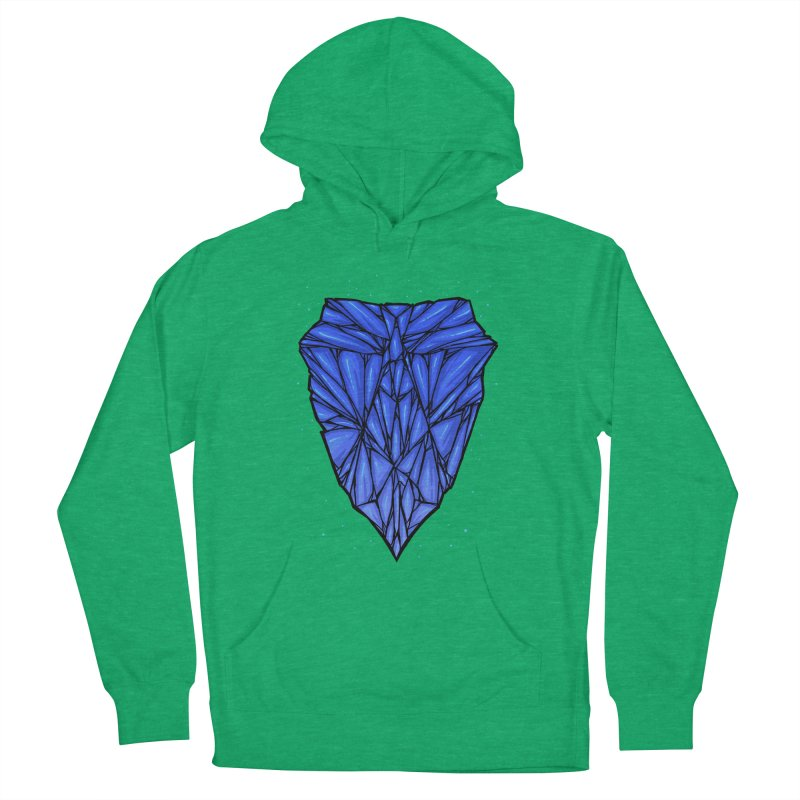 Blue diamond Women's French Terry Pullover Hoody by barmalisiRTB