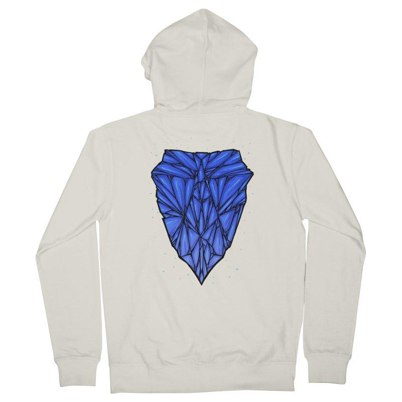 Blue diamond Women's French Terry Zip-Up Hoody by barmalisiRTB