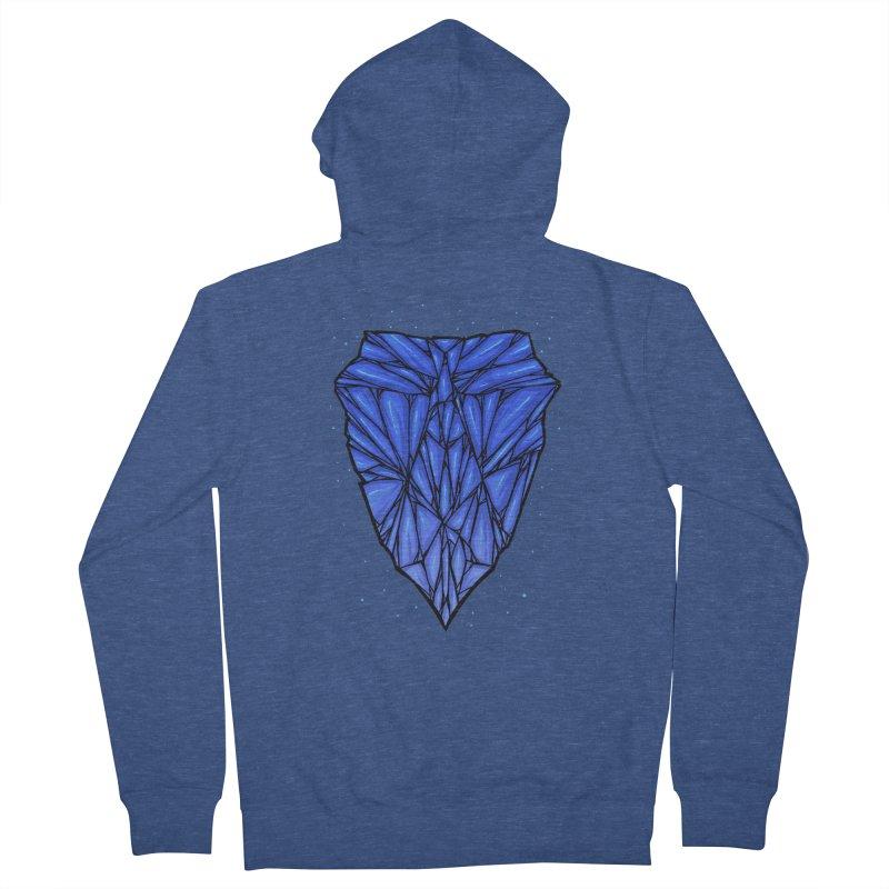 Blue diamond Men's French Terry Zip-Up Hoody by barmalisiRTB