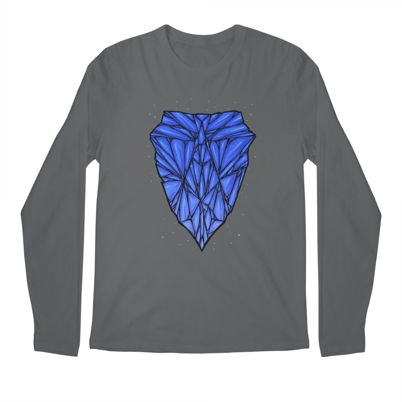 Blue diamond Men's Regular Longsleeve T-Shirt by barmalisiRTB