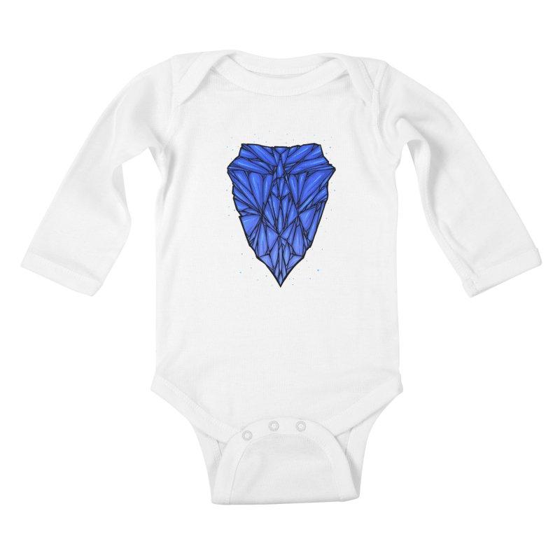 Blue diamond Kids Baby Longsleeve Bodysuit by barmalisiRTB