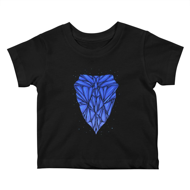 Blue diamond Kids Baby T-Shirt by barmalisiRTB