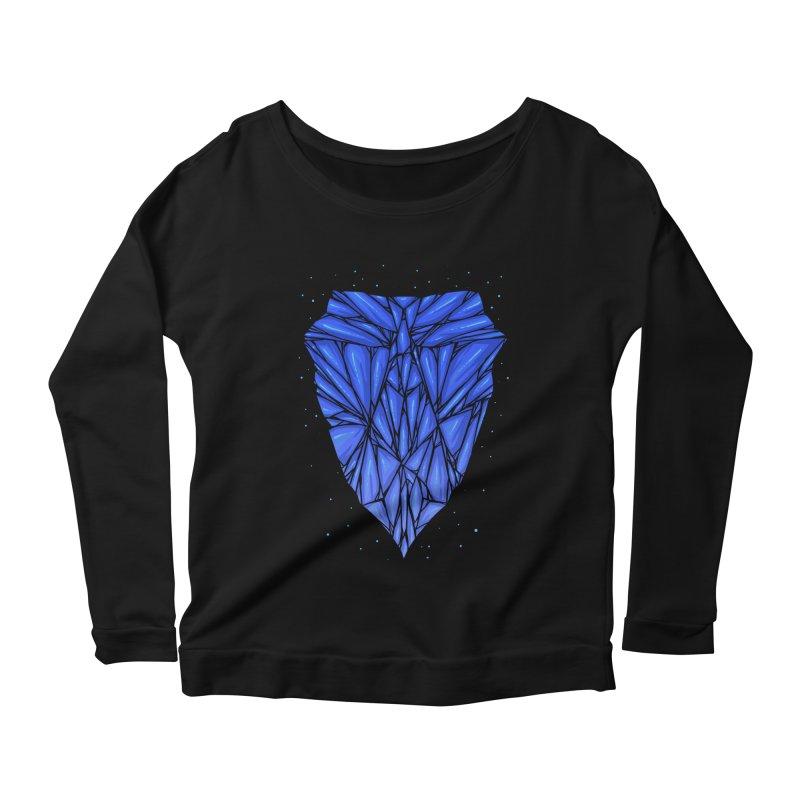Blue diamond Women's Scoop Neck Longsleeve T-Shirt by barmalisiRTB
