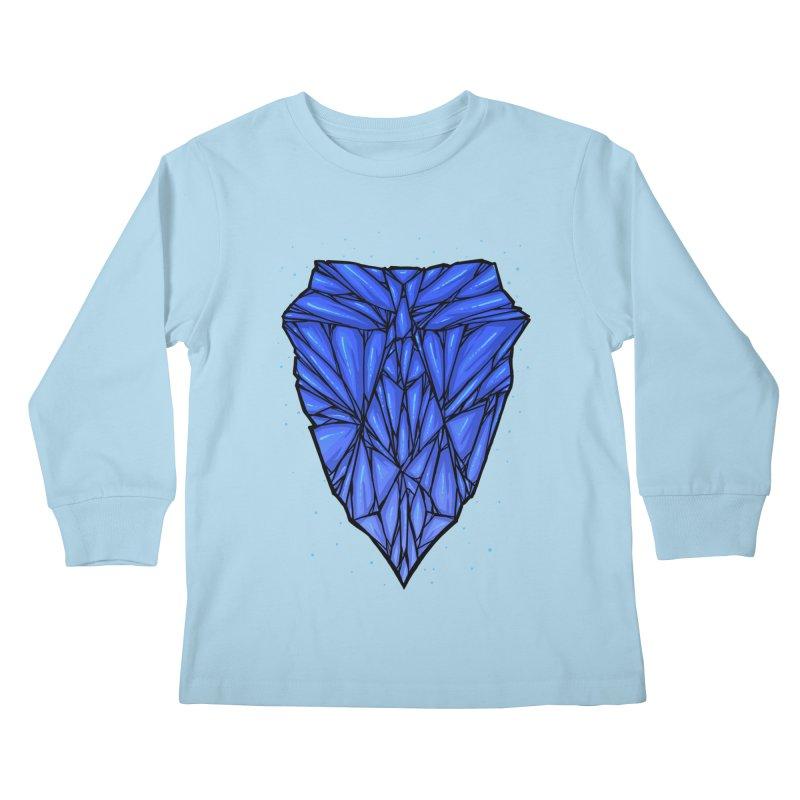 Blue diamond Kids Longsleeve T-Shirt by barmalisiRTB