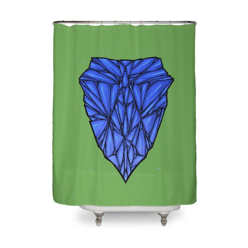 Blue diamond Home Shower Curtain by barmalisiRTB