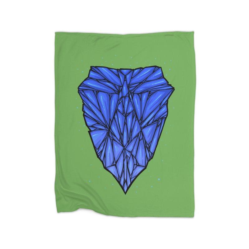Blue diamond Home Fleece Blanket Blanket by barmalisiRTB