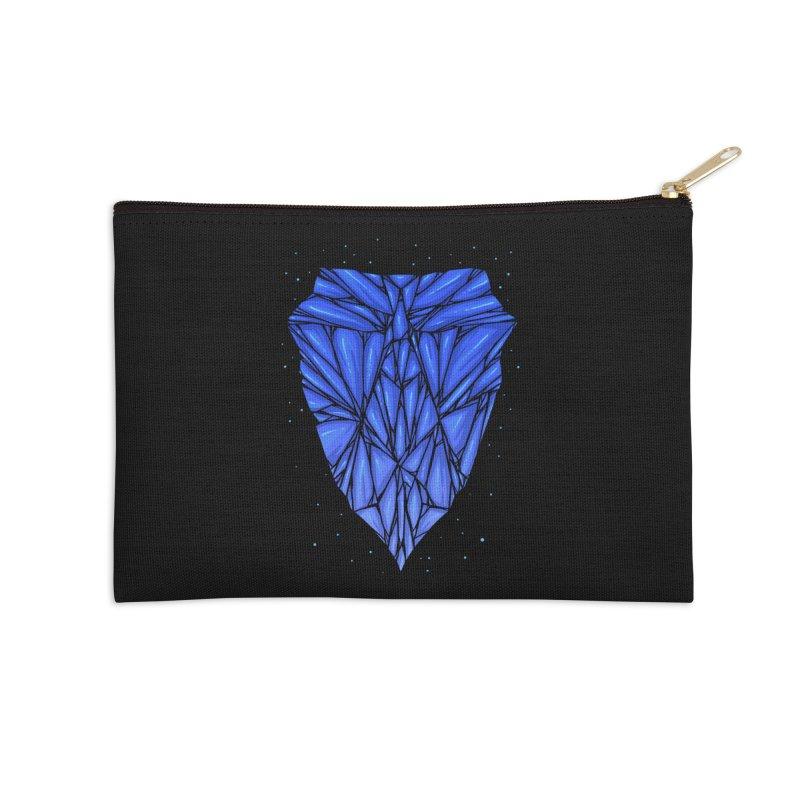 Blue diamond Accessories Zip Pouch by barmalisiRTB