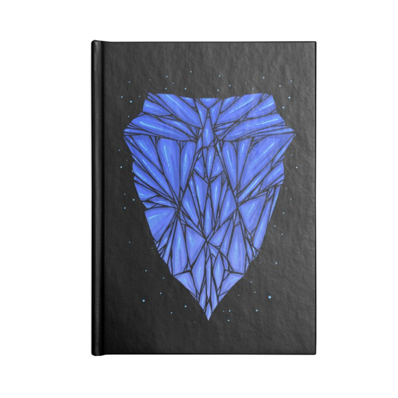 Blue diamond Accessories Lined Journal Notebook by barmalisiRTB