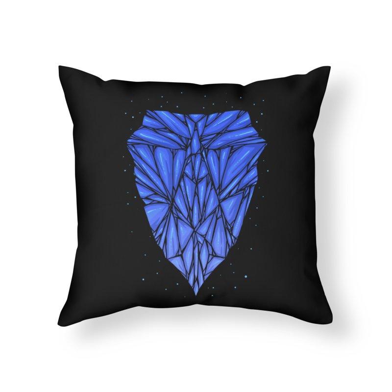 Blue diamond Home Throw Pillow by barmalisiRTB