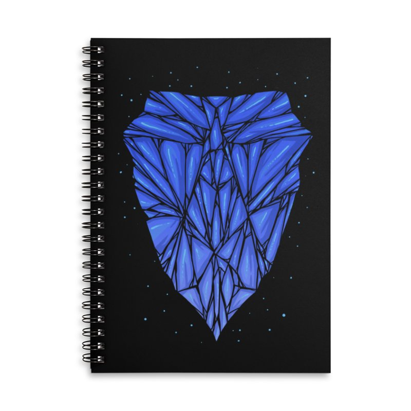 Blue diamond Accessories Lined Spiral Notebook by barmalisiRTB