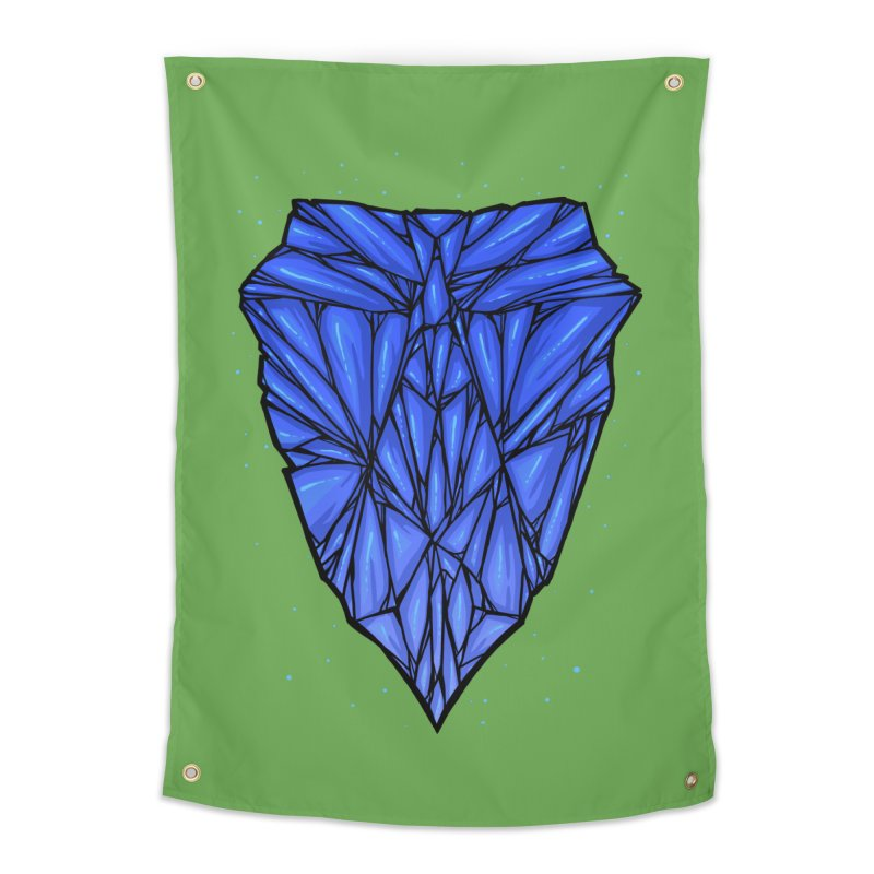 Blue diamond Home Tapestry by barmalisiRTB