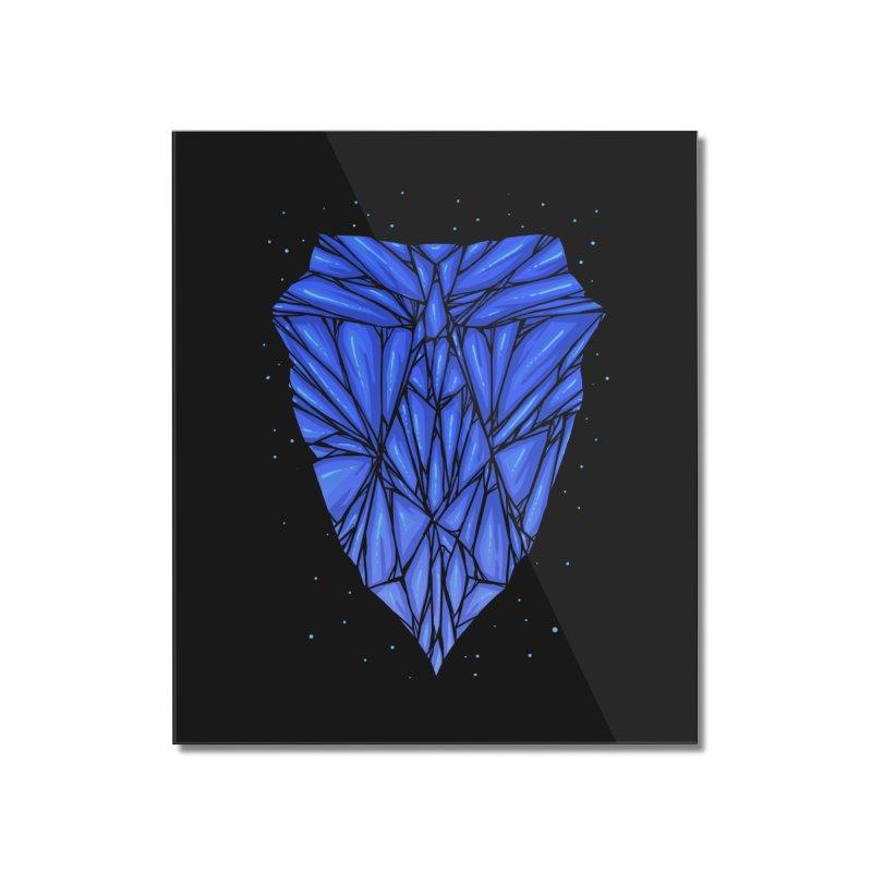 Blue diamond Home Mounted Acrylic Print by barmalisiRTB