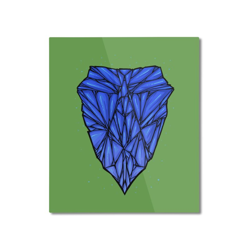 Blue diamond Home Mounted Aluminum Print by barmalisiRTB