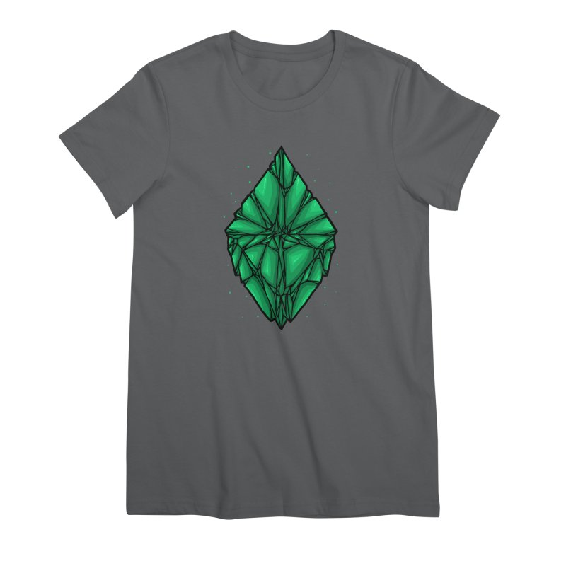 Green diamond Women's Premium T-Shirt by barmalisiRTB