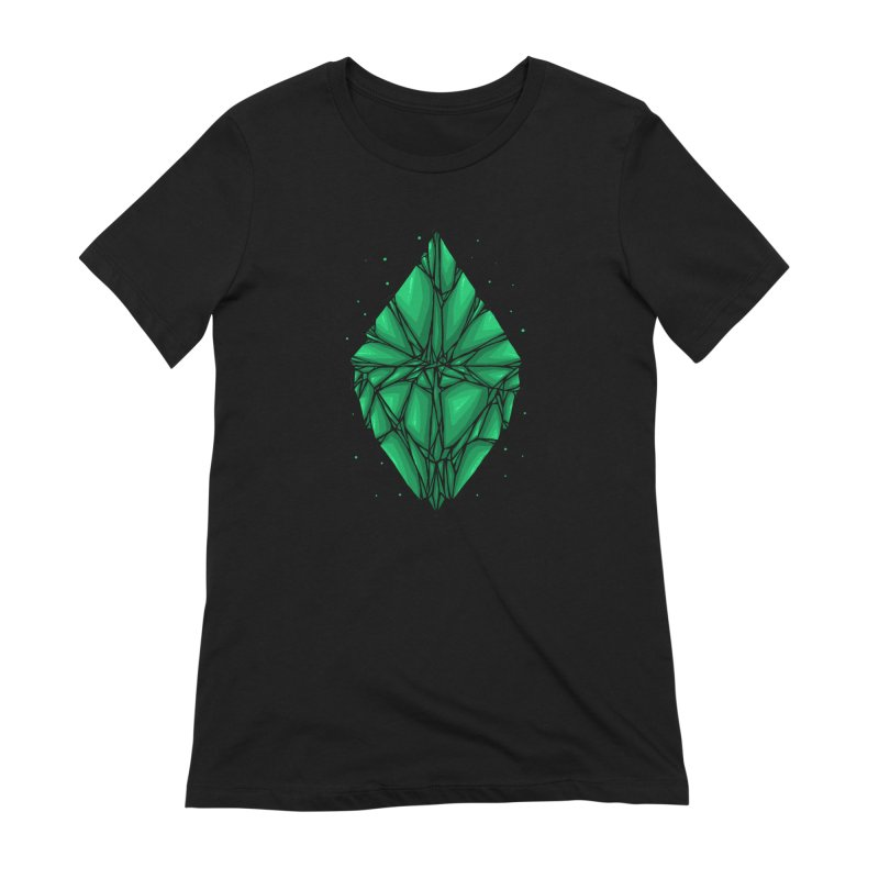 Green diamond Women's Extra Soft T-Shirt by barmalisiRTB