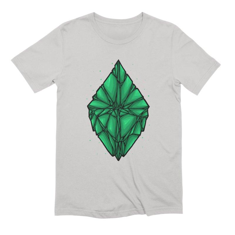 Green diamond Men's Extra Soft T-Shirt by barmalisiRTB