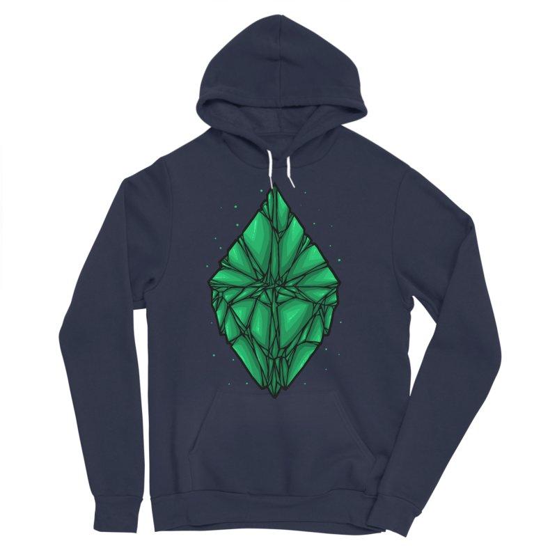 Green diamond Men's Sponge Fleece Pullover Hoody by barmalisiRTB