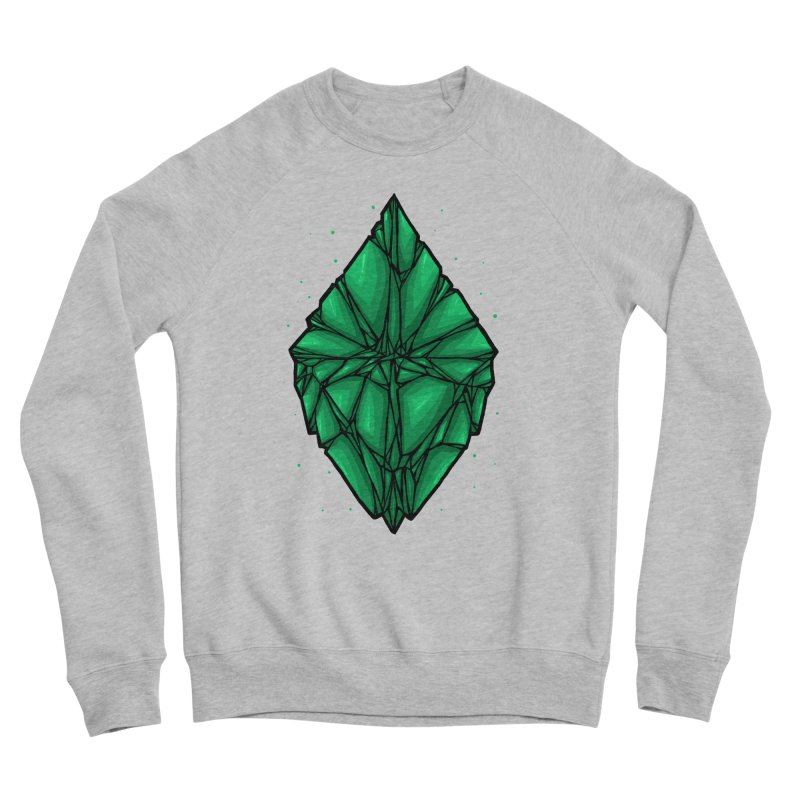 Green diamond Women's Sponge Fleece Sweatshirt by barmalisiRTB