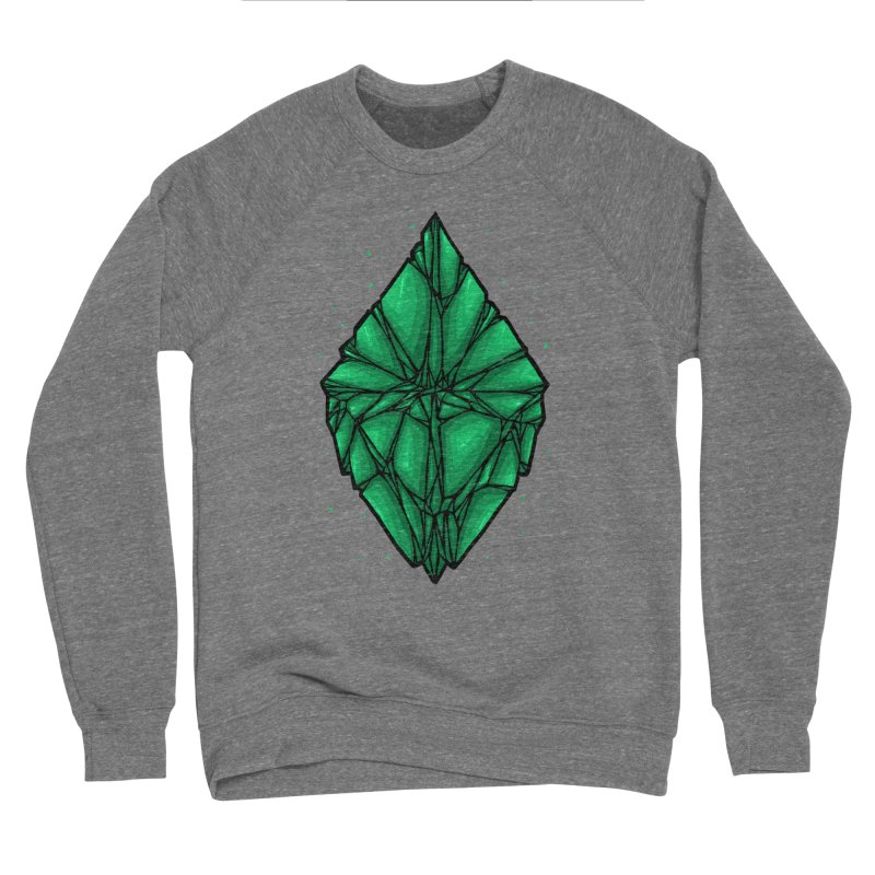 Green diamond Men's Sponge Fleece Sweatshirt by barmalisiRTB