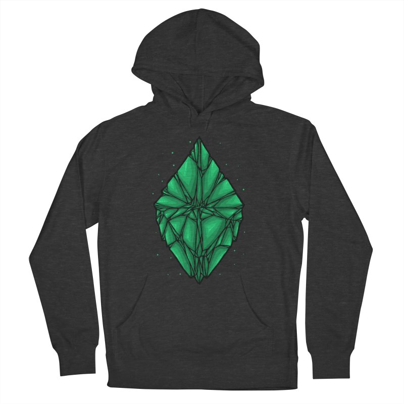 Green diamond Women's French Terry Pullover Hoody by barmalisiRTB