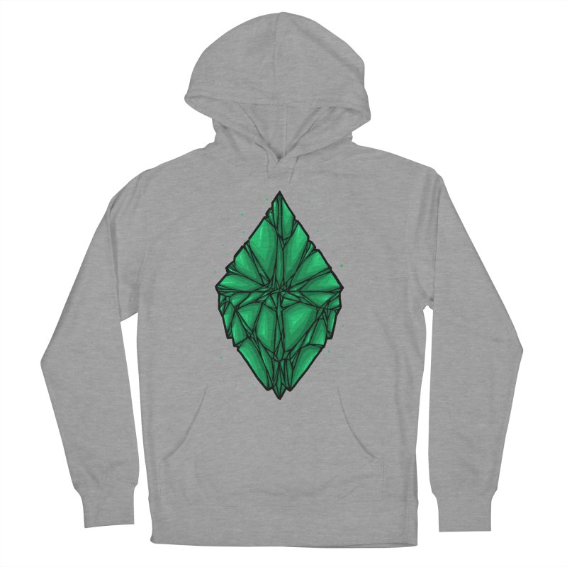 Green diamond Men's French Terry Pullover Hoody by barmalisiRTB