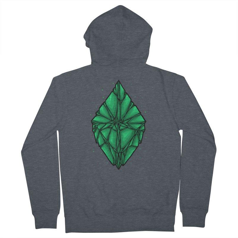 Green diamond Men's French Terry Zip-Up Hoody by barmalisiRTB