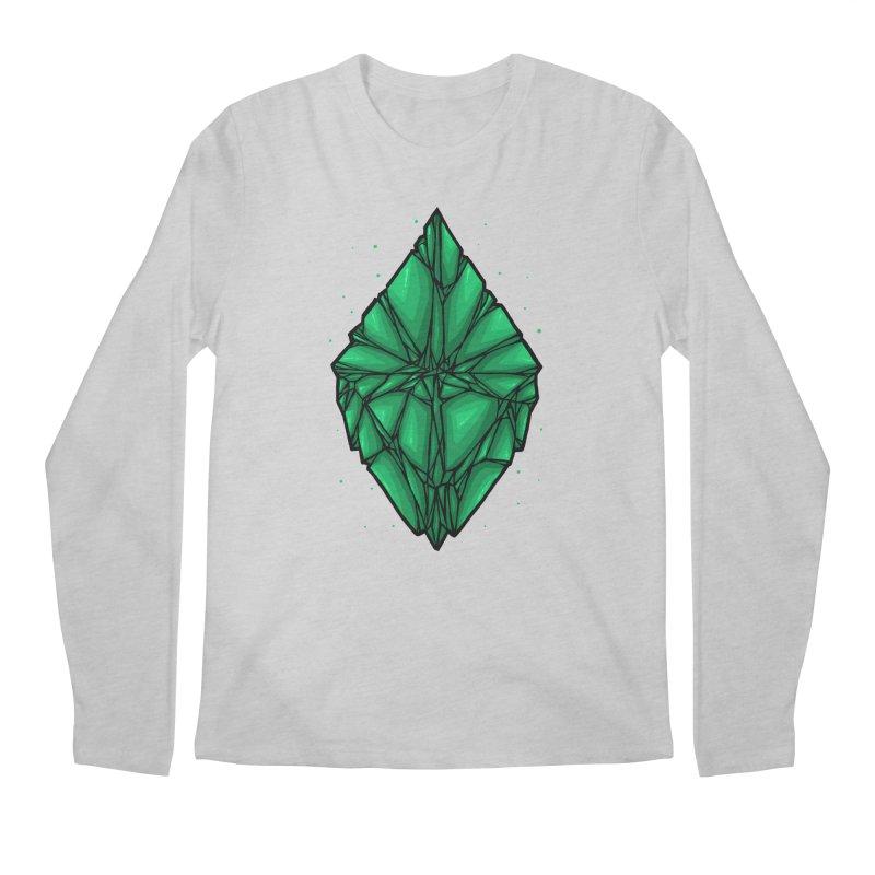 Green diamond Men's Regular Longsleeve T-Shirt by barmalisiRTB