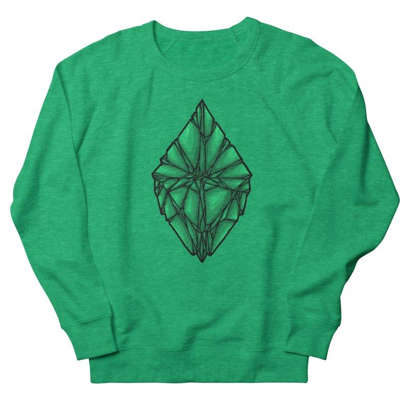Green diamond Women's French Terry Sweatshirt by barmalisiRTB