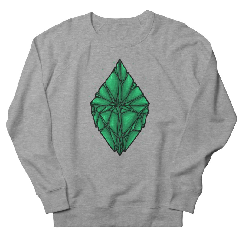 Green diamond Women's French Terry Sweatshirt by barmalisiRTB