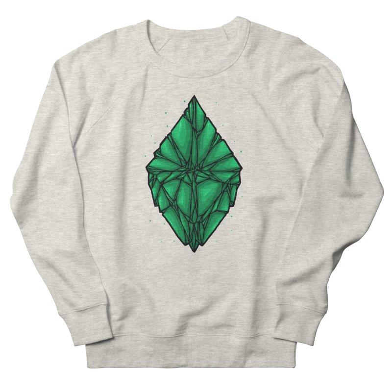 Green diamond Men's French Terry Sweatshirt by barmalisiRTB
