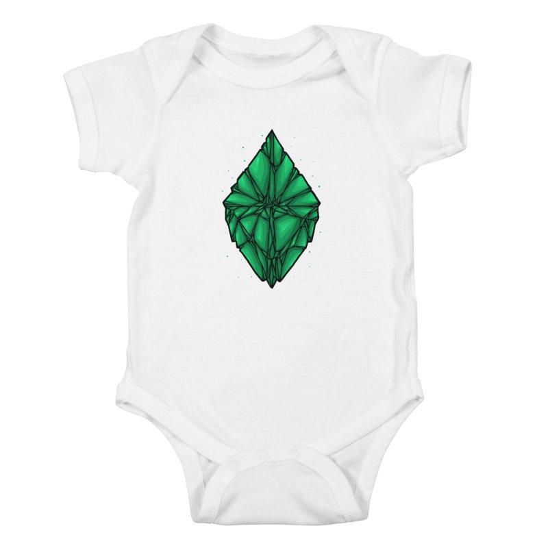 Green diamond Kids Baby Bodysuit by barmalisiRTB