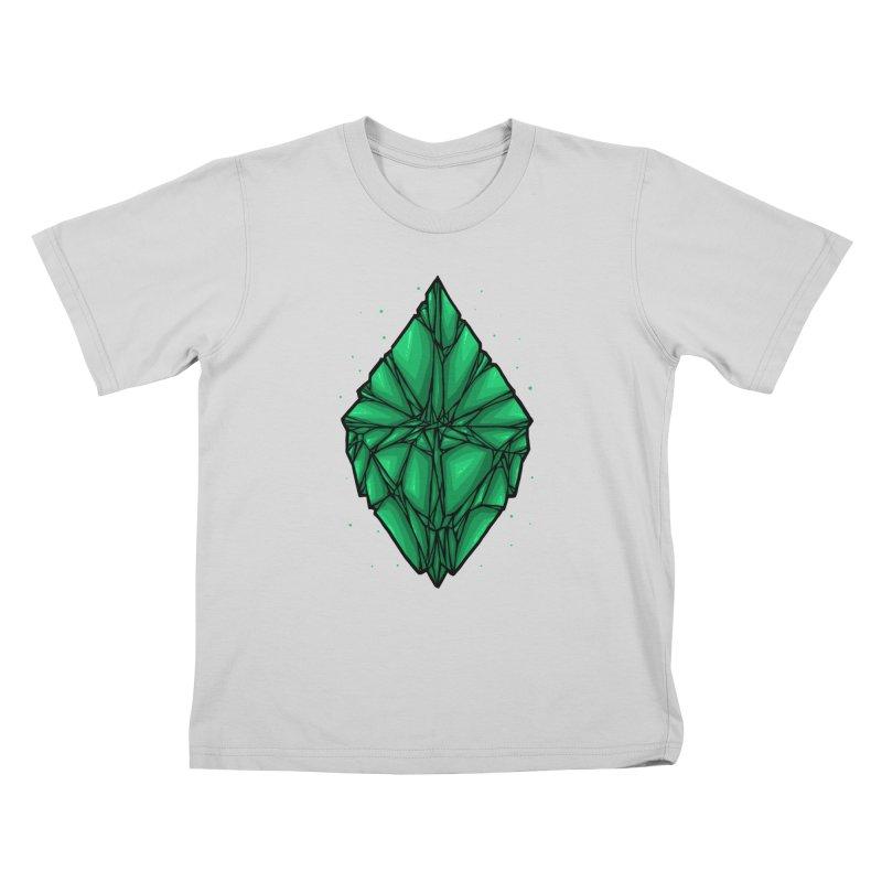 Green diamond Kids T-Shirt by barmalisiRTB