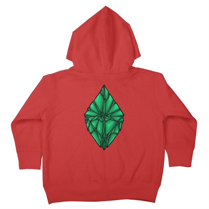 Green diamond Kids Toddler Zip-Up Hoody by barmalisiRTB