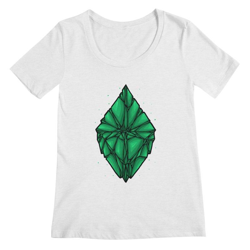 Green diamond Women's Regular Scoop Neck by barmalisiRTB