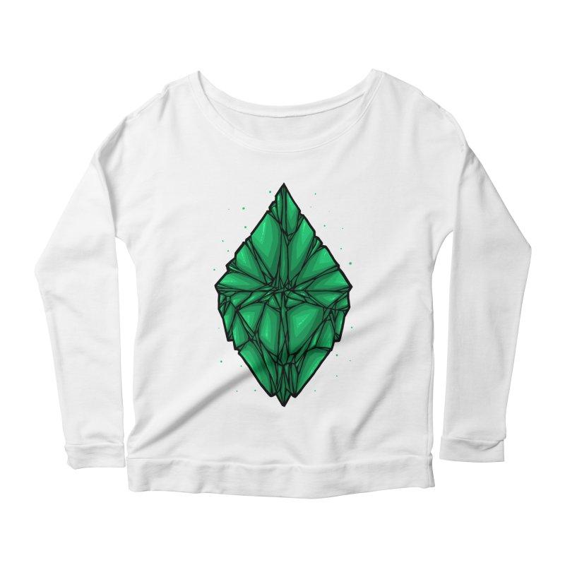 Green diamond Women's Scoop Neck Longsleeve T-Shirt by barmalisiRTB