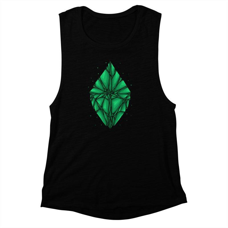 Green diamond Women's Muscle Tank by barmalisiRTB
