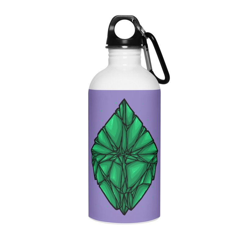 Green diamond Accessories Water Bottle by barmalisiRTB