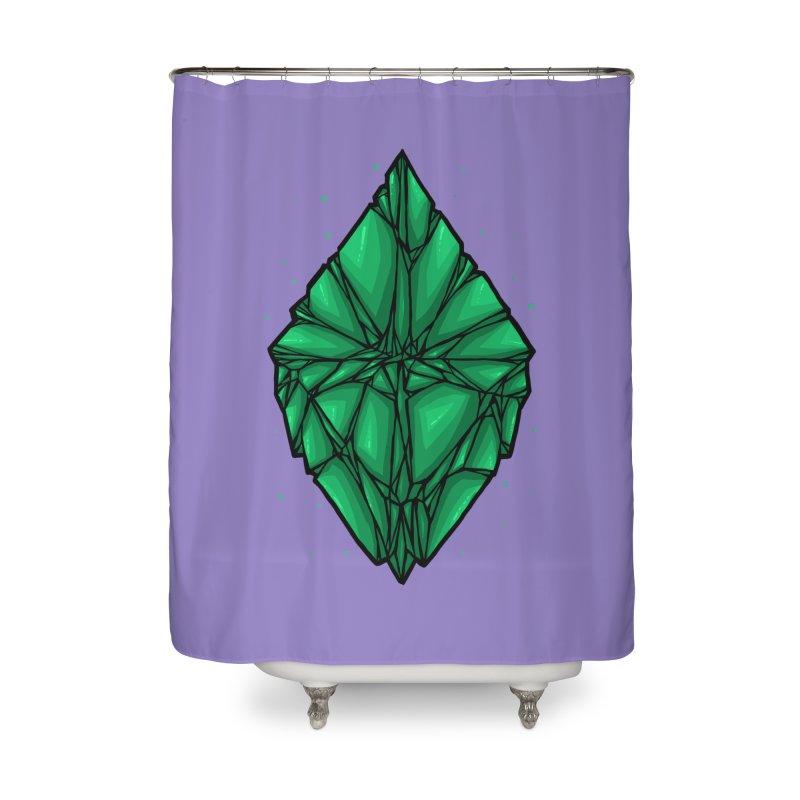 Green diamond Home Shower Curtain by barmalisiRTB