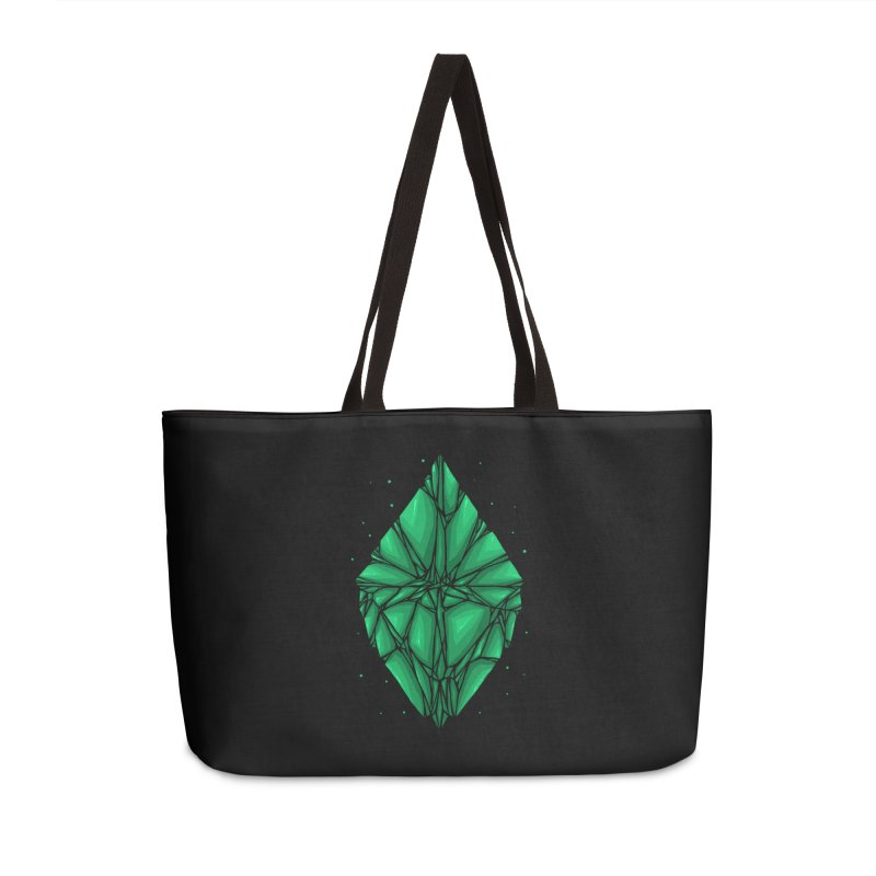 Green diamond Accessories Weekender Bag Bag by barmalisiRTB