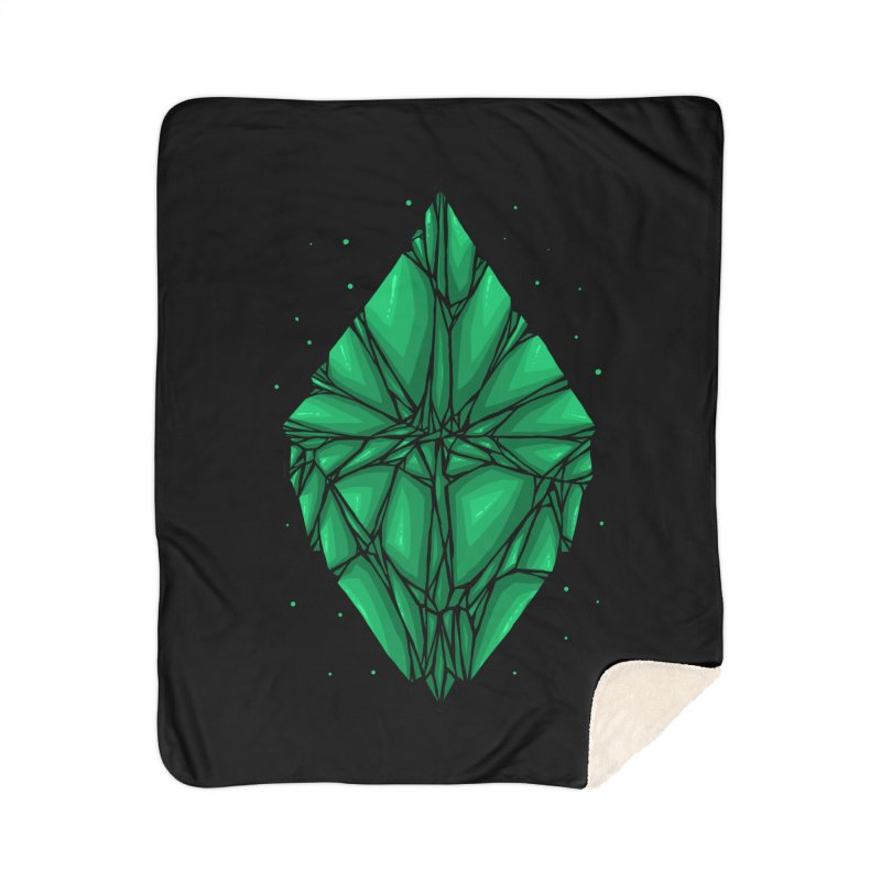 Green diamond Home Sherpa Blanket Blanket by barmalisiRTB