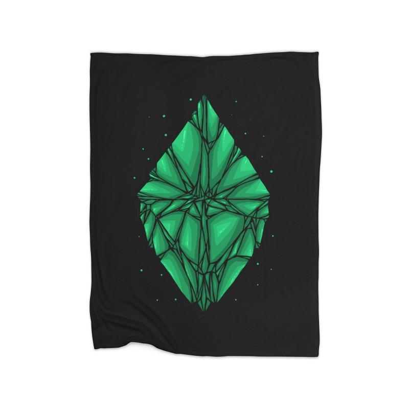 Green diamond Home Fleece Blanket Blanket by barmalisiRTB