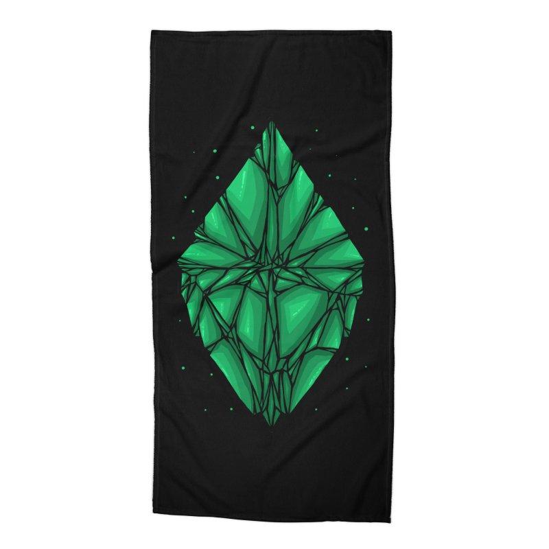 Green diamond Accessories Beach Towel by barmalisiRTB