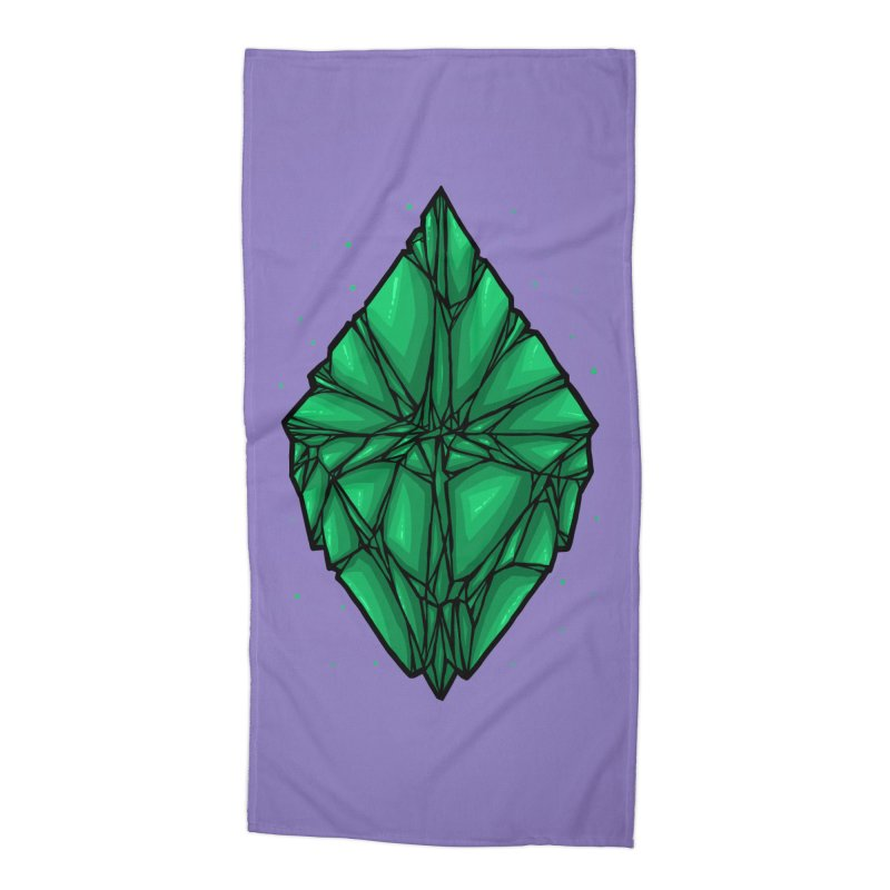 Green diamond Accessories Beach Towel by barmalisiRTB
