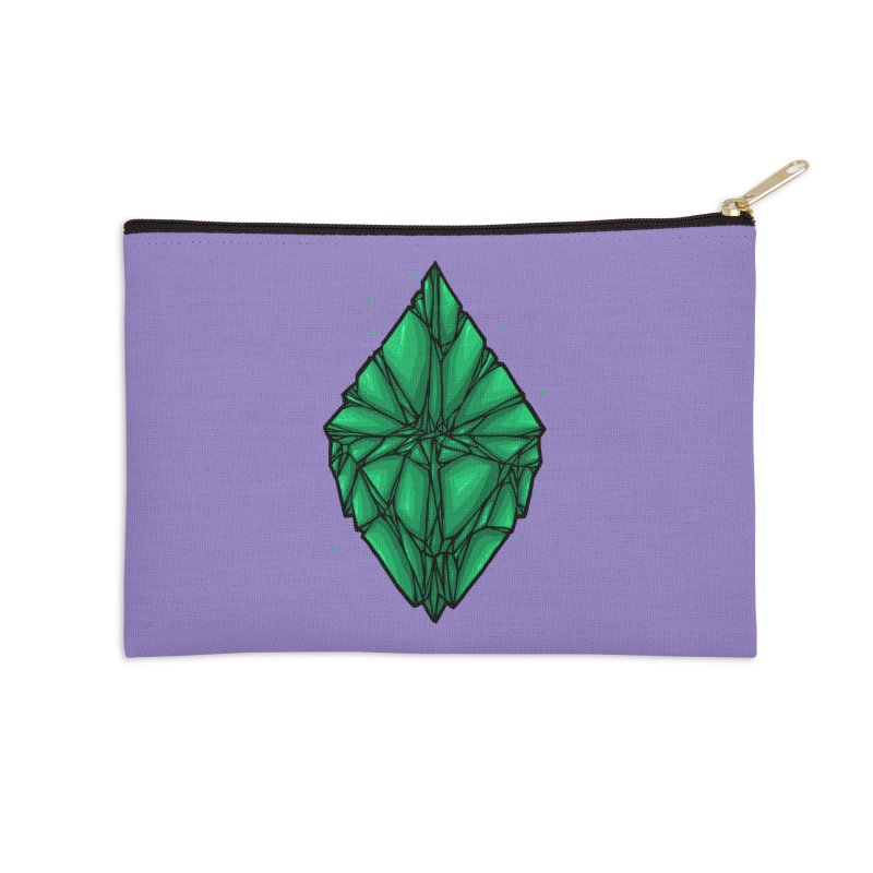 Green diamond Accessories Zip Pouch by barmalisiRTB